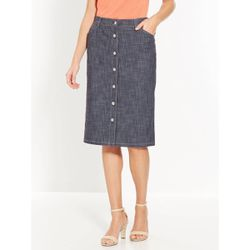 Jupe Boutonne Denim Flamme