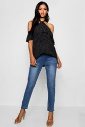 Grossesse Jean skinny couvrant ventre - boohoo - Shopsquare