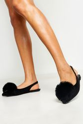 Ballerines pointues à pompons - boohoo - Shopsquare