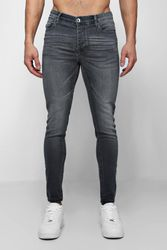Jean skinny effet spray gris - boohoo - Shopsquare