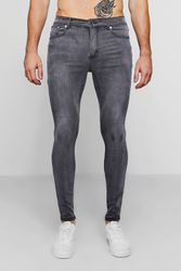 Jean skinny effet spray en gris anthracite - boohoo - Shopsquare
