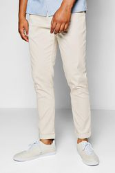 Chino gris pierre fuselé stretch - boohoo - Shopsquare