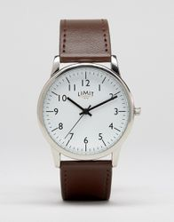 Montre Cuir  Marron  Exclusivité Asos  Marron