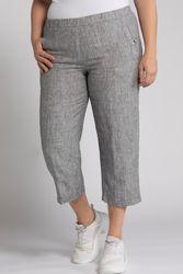 Pantalon 7/8 en lin ceinture confortable Grande Taille - Ulla Popken - Modalova