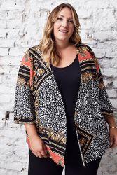 Blouse kimono Grande Taille Femme - Ulla Popken - Modalova