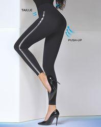 Legging push-up Elda noir - Bas bleu - Modalova