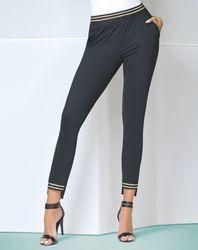 Pantalon Marisa noir/doré - Bas bleu - Modalova