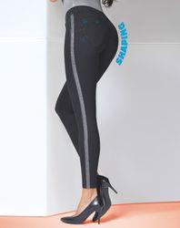 Legging Toni noir/argenté - Bas bleu - Modalova