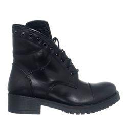 Boots en Cuir Vitello noires - Loretta by Loretta - Modalova