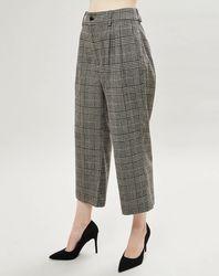 Pantalon en Laine mélangée à carreaux gris - Bellerose - Modalova