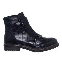 Boots en Cuir Cocco noires - Loretta by Loretta - Modalova