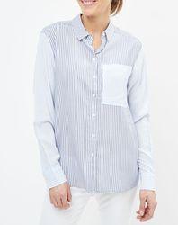 Chemise Mila à rayures bleue - Pepe Jeans - Modalova