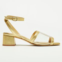 Sandales en Cuir dorées - Talon 5 cm - Apologie - Modalova