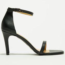 Sandales en Cuir noires - Talon 9 cm - Apologie - Modalova
