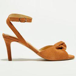 Sandales en Velours de Cuir caramel - Talon 5 cm - Apologie - Modalova
