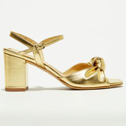 Sandales en Cuir dorées - Talon 7 cm - Apologie - Modalova