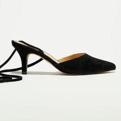 Escarpins en Velours de Cuir noirs - Talon 5 cm - Apologie - Modalova