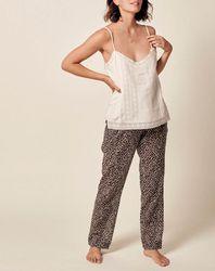 Pantalon en Coton imprimé noir - Stella Forest - Modalova