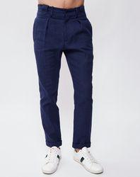 Pantalon en Lin & Coton John marine - John Galliano - Modalova