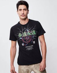 T-Shirt Bryan noir - John Galliano - Modalova