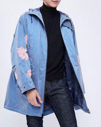 Parka fleurs strass bleue - John Galliano - Modalova