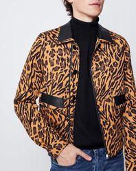 Blouson imprimé léopard marron - John Galliano - Modalova