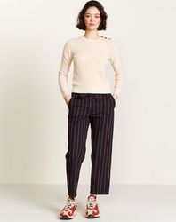Pantalon Lou en Coton rayé noir - Bellerose - Modalova