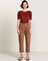 Pantalon Pompom en Toile de coton beige - Bellerose - Modalova