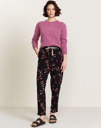 Pantalon Vael légèrement ample à fleurs noir - Bellerose - Modalova