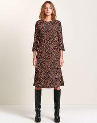 Robe Heisho fluide léopard marron - Bellerose - Modalova