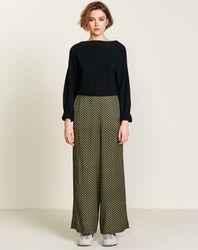 Pantalon Hawke fluide imprimé noir/jaune - Bellerose - Modalova