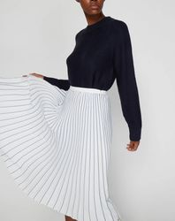 Jupe longue plissée blanche - Tommy Hilfiger - Modalova