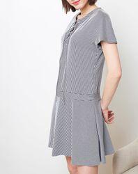Robe Kimono rayée bleu marine - Cacharel - Modalova