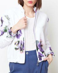 Blouson très fin imprimé floral blanc/violet - Cacharel - Modalova