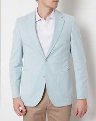 Veste Blazer fines rayures vert/blanc - Hackett London - Modalova