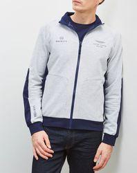 Sweat zippé Aston Martin Racing gris/marine - Hackett London - Modalova