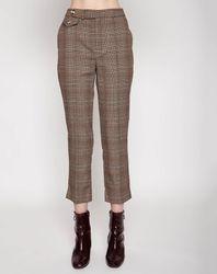 Pantalon Ecole à carreaux marron - Pepe Jeans - Modalova
