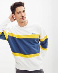 Sweat Lorne rayé blanc/bleu/jaune - Pepe Jeans - Modalova