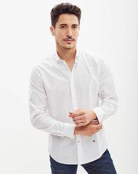 Chemise droite imprimée fleurs blanche - Pepe Jeans - Modalova