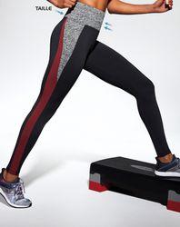 Legging Sport taille haute Extreme noir/gris - Bas bleu - Modalova