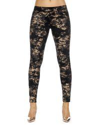 Legging Polly imprimé camouflage noir/doré - Bas bleu - Modalova