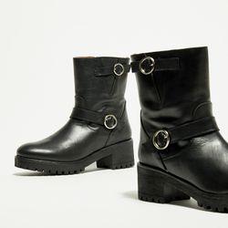 Boots en Cuir Sophia noires - Apologie - Modalova