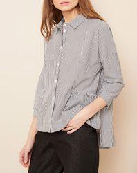 Chemise à rayures blanc/gris - Hotel Particulier - Modalova