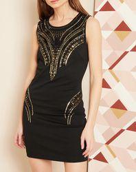 Robe courte Shiny noire - Hotel Particulier - Modalova