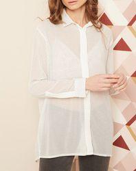 Chemise à strass blanche - Hotel Particulier - Modalova