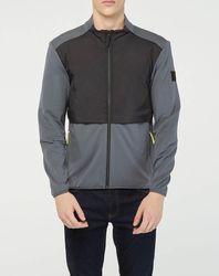 Veste de survêtement zippée Amr Pro Down gris/noir - Hackett London - Modalova