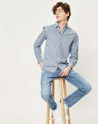 Chemise ajustée Dylan Mini Gingham micro carreaux - Pepe Jeans - Modalova