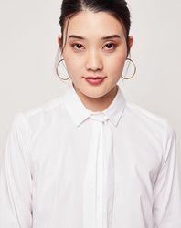 Chemise col lavalière Amo blanche - Esprit - Modalova