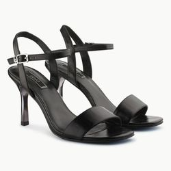 Sandales en Cuir Brenda noires - Talon 9 cm - Liu-Jo - Modalova
