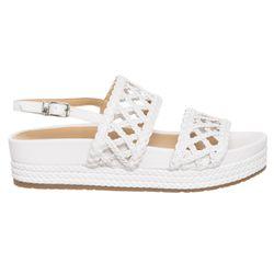 Sandales en Cuir Patty blanches - Talon 4 cm - Liu-Jo - Modalova